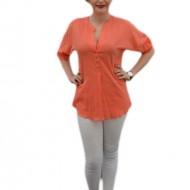 Bluza de culoare portocalie, cu maneci cu lungime ajustabila
