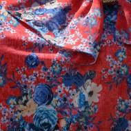 Bluza eleganta, din material vaporos, cu pandativ
