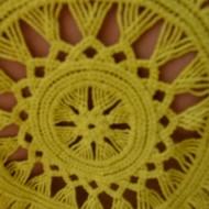 Bluza lejera Sidonia cu broderie in spate,nuanta de galben