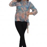 Bluza supradimensionata cu maneca trei-sferturi, multicolora