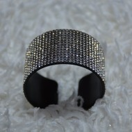 Bratara trendy, model elegant cu latime de 3,5 cm si cristale incolore