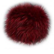Caciula calduroasa de iarna, culoare rosie, realizata din blana