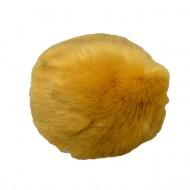 Caciula de iarna din blanita moale,galben si interior captusit