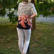 Camasa cu maneca scurta, elegante, bicolora
