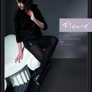 Ciorapi chic, nuanta de negru, cu efect 3D, 120 DEN