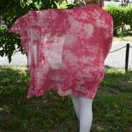 Esarfa deosebita din vascoza cu aspect marmorat in nuante de roz