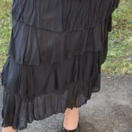 Fusta lunga, casual, de culoare negra