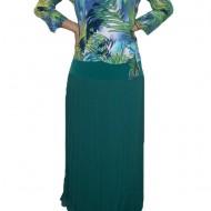 Fusta lunga, de culoare turcoaz,masura mare, model plisat