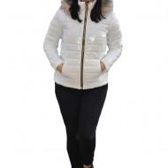 Jacheta casual Anca,scurta,model luicios,nuanta de alb