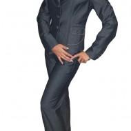 Pantalon de stofa cu aspect de blug, de culoare bleumarin