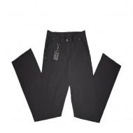 Pantalon lung masuri mici, de culoare gri inchis, model casual