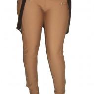 Pantaloni casual, maro cu bretele detasabile