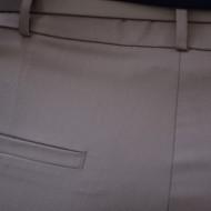 Pantaloni office Medeline cu croi drept,nuanat de bej