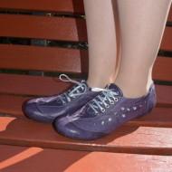 Pantof confortabil, model de cusaturi, disponibil in culoare mov