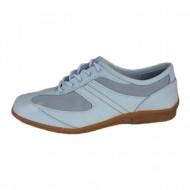 Pantof din piele naturala, nuanta de alb, sireturi clasice
