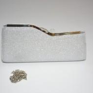 Poseta tip clutch,chic cu efect garantat,nuante alb,argintiu,negru