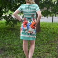 Rochie casual feminia, cambrata pe corp, multicolora