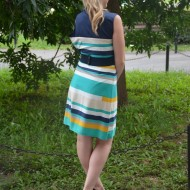 Rochie casual, feminina , multicolora in clos