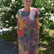 Rochie chic de primavara-vara ,culoare gri