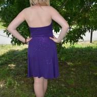Rochie cu tesatura stralucitoare, culoare mov