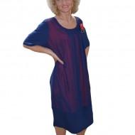 Rochie de dama de ocazie, bleumarin cu captuseala rosie