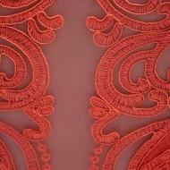 Rochie de ocazie, din material matlasat, de culoare corai