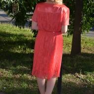 Rochie din dantela ,feminina, de ocazie , de culoare corai