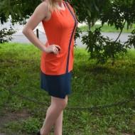 Rochie feminina de primavara-vara, bicolora