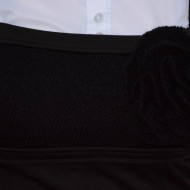Rochie rafinata , de culoare neagra cu fusa in clos