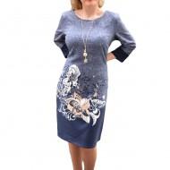 Rochie rafinata model casual, de culoare albastra, masura mare