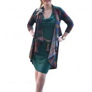 Rochie speciala, design apate, tinereasca, in nuanta de verde inchis