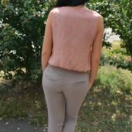 Salopeta feminina, de culoare crem-plamaniu
