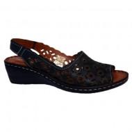Sandale rafinate cu platforma si model de perforatii