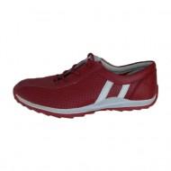 Adidas sport, modern, perforat, din piele naturala de culoare rosie