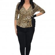 Bluza eleganta Tania ,imprimeu animal print