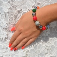 Bratara deosebita cu textura elastica,culoare multicolor