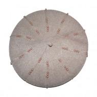 Caciula rafinata cu design de perle maro deschis