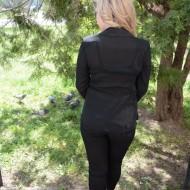 Camasa cu maneca lunga si aplicatii de saten, de ocazie