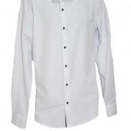Camasa deosebita pentru barbati, culoare alba cu imprimeu fin