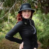 Camasa la moda, nuanta de negru-alb, design vintage deosebit
