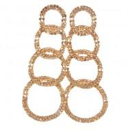 Cercei fashion cu cristale fine in diferite nuante, fixare cu surub
