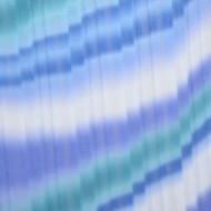 Fusta albastra de primavara-vara, din voal, cu imprimeu in dungi