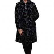Jacheta eleganta cu croi drept, neagra cu design abstract colorat