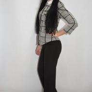 Pantalon casual nuanta de negru masura mare