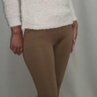 Pantalon modern, bleumarin, bej, negru cu insertii piele