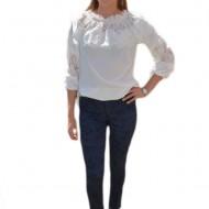 Pantalon modern cu croi cambrat, bleumarin, material elastic