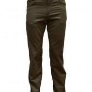 Pantalon simplu de barbati, de culoare maro, cu buzunare clasice