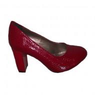 Pantof casual, de culoare negru, rosu, bleumarin, piele de sarpe