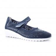Pantof cu talpa ortopedica, din piele, bleumarin