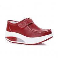 Pantof dama sport Dianne cu talpa ortopedica ,nuanta de rosu